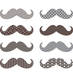Mustaches pattern set vector