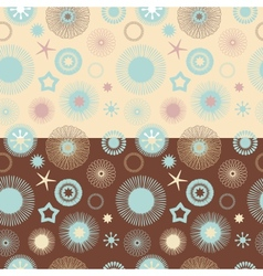 Set of 2 seamless abstract floral patterns vector image vector image