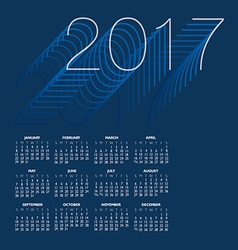 2017 Creative Colorful Calendar vector image