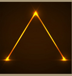 abstract neon pyramid with glowing lines vector image