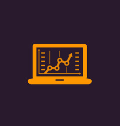 analytics business analysis icon vector image