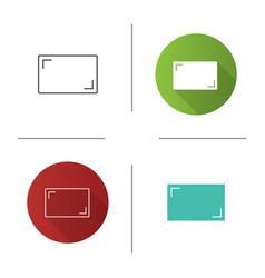Aspect ratio icon vector