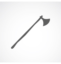 Axe with long stick vector
