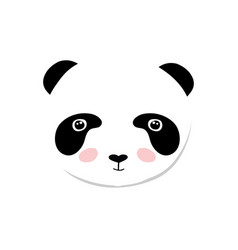 baby panda bear of cute baby vector image