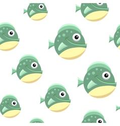 Ball fish football vector image