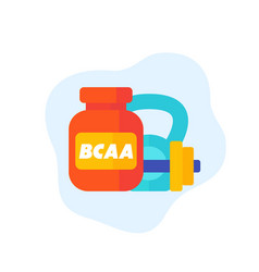 Bcaa gym supplements icon vector