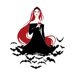beautiful vampire-02 vector image
