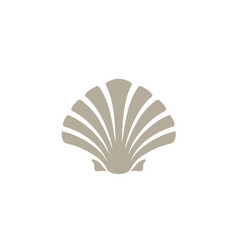 beauty seashell oyster scallop shell cockle logo vector image