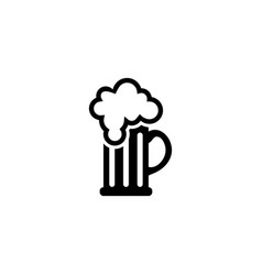 beer glass flat icon vector image