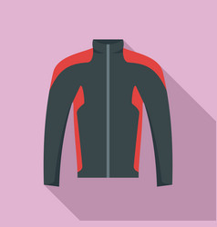 bike jacket icon flat style vector image