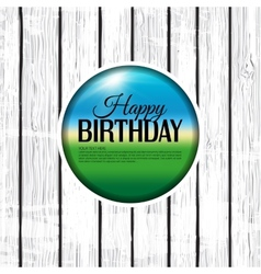Birthday card on wooden background vector