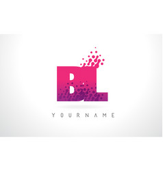 Bl b l letter logo with pink purple color and vector