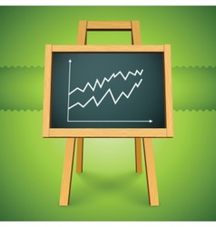Chalkboard with finance business graph vector