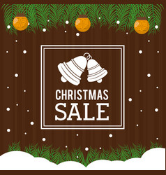 christmas sale flyer vector image