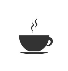 coffee cup icon isolated tea cup hot drink vector image