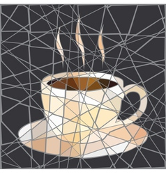 Coffee cup mosaic vector