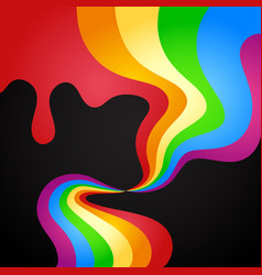 Colored paint wave abstraction vector