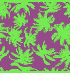 Colorful palm tree seamless pattern vector