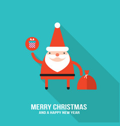 cute santa claus modern flat design style vector image