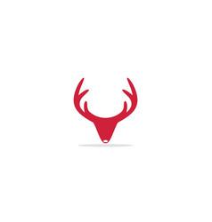 deer horn logo vector image