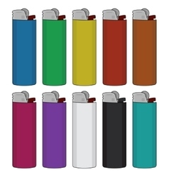 Disposable lighters set vector image