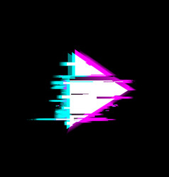 Distorted glitch style recording and play media vector