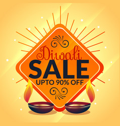 Diwali sale banner celebration offer template vector
