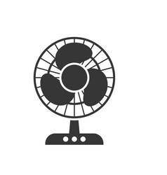 domestic fan glyph single isolated icon vector image