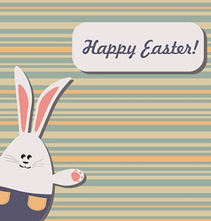 Easter Bunny on Stripped Background vector image