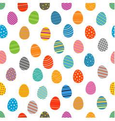 Easter eggs silhouettes seamless pattern easter vector