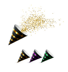 Festive party poppers set vector