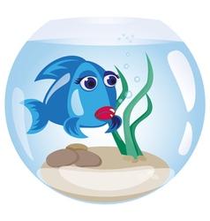 Fish in the aquarium vector image