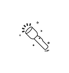 flash torch light icon design vector image