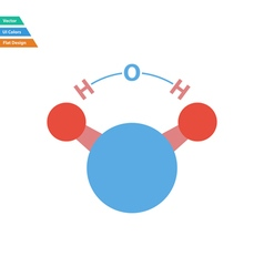 Flat design icon of chemical molecule water vector