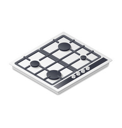 Gas-stove detailed isometric icon vector