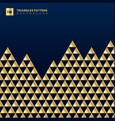 geometric gold triangles luxury seamless pattern vector image