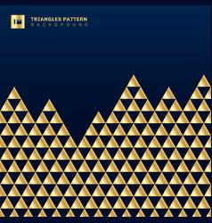 Geometric gold triangles luxury seamless pattern vector