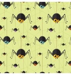 Halloween spider seamless background vector