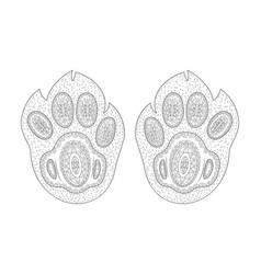 hand drawn doodle footprint zen tangle coloring vector image