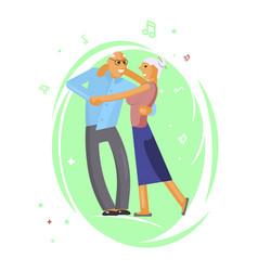 happy senior couple vector image