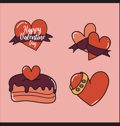 happy valentines day elements for your design vector image