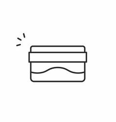 Hygienic cream icon vector