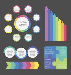 infographic elements decorated in different colors vector image