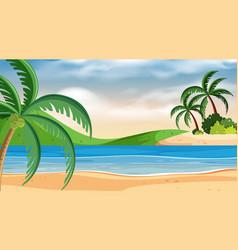 landscape background design with blue sea vector image
