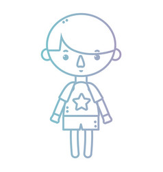 line boy with clothes and hairstyle design vector image