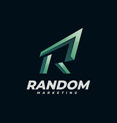logo random gradient colorful style vector image