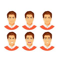 man emotions vector image