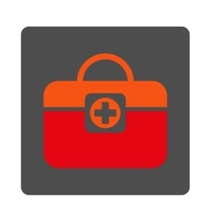 Medic Case Flat Button vector image