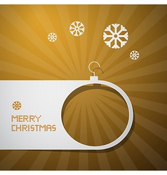 Merry Christmas Golden Background vector image