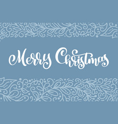 merry christmas white vintage text vector image